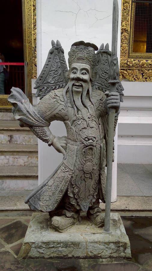 Wat Pho, также сказанное по буквам Wat Po, комплекс буддийского виска в районе Phra Nakhon, Бангкоке, Таиланде стоковое изображение