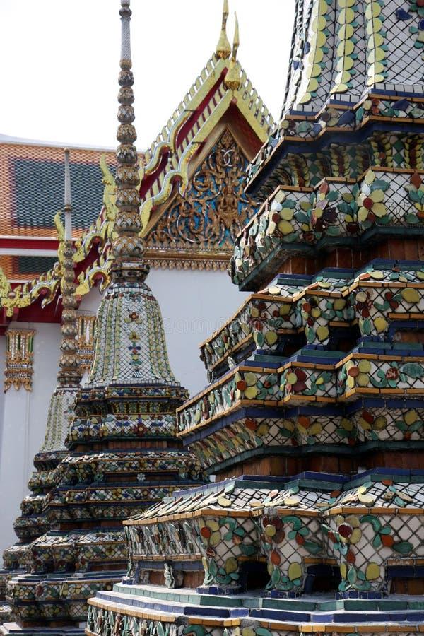Wat Pho Bangkok Architectural Detail royalty-vrije stock afbeeldingen