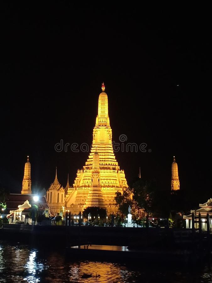 Wat Pho bangkok tempel arkivbild