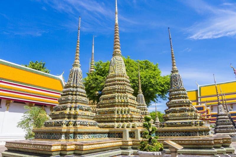 Wat pho Bangkok Thailand arkivfoto