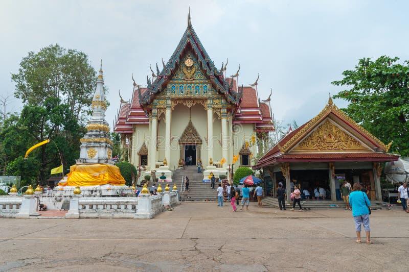 WAT PHO CHAI Temple, Mueang Nong Khai Municipality, Thailand royaltyfri foto