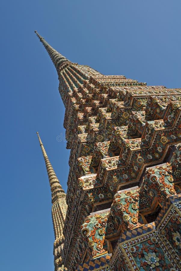 Wat Pho en Bangkok, Tailandia fotografía de archivo