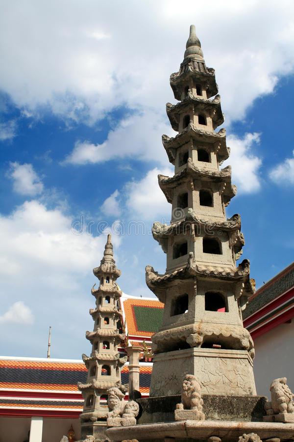 Wat Pho está situado en Tailandia imagen de archivo libre de regalías