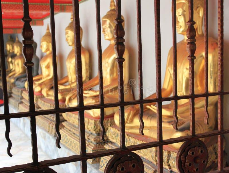 Wat Pho lying buddha temple in Bangkok, Thailand - details royalty free stock image