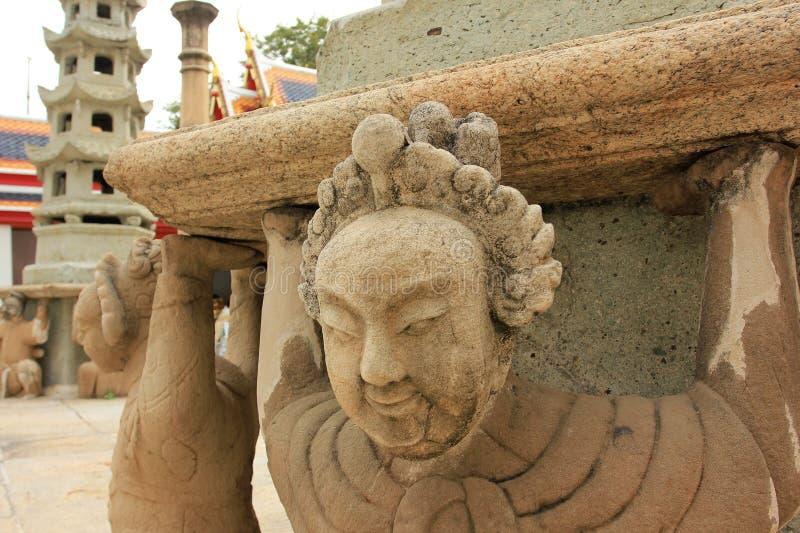Wat Pho lying buddha temple in Bangkok, Thailand - details royalty free stock images