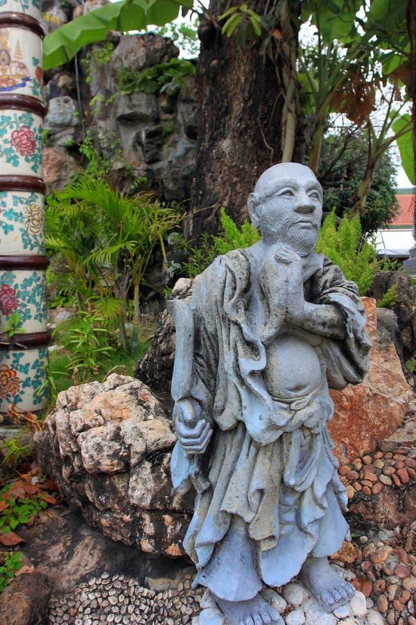 Wat Pho lying buddha temple in Bangkok, Thailand - details stock photography