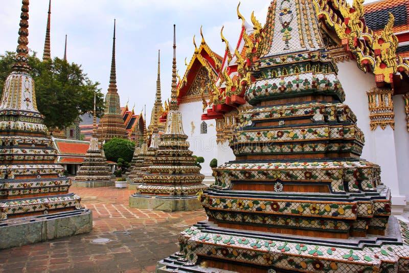 Wat Pho lying buddha temple in Bangkok, Thailand - details royalty free stock photo