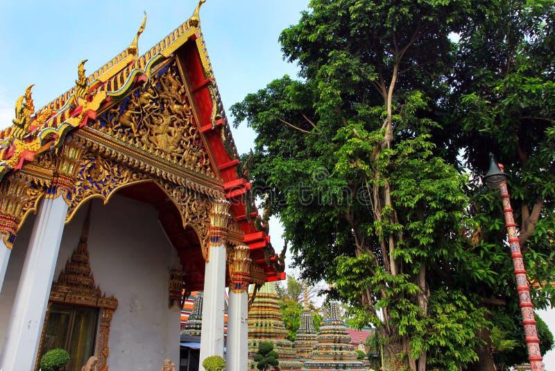Wat Pho lying buddha temple in Bangkok, Thailand - details stock images