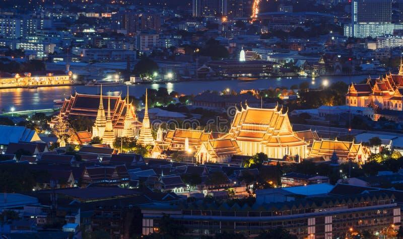 Wat Pho o Wat Phra Chetuphon Vimolmangklararm Rajwaramahaviharn imagen de archivo libre de regalías