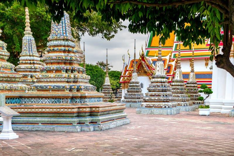 Wat Pho offentlig tempel, Bangkok, Thailand royaltyfri fotografi