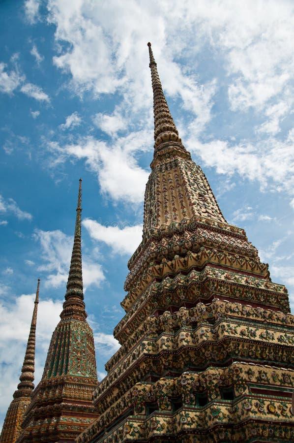 wat pho pagoda bangkok тайское стоковые фотографии rf