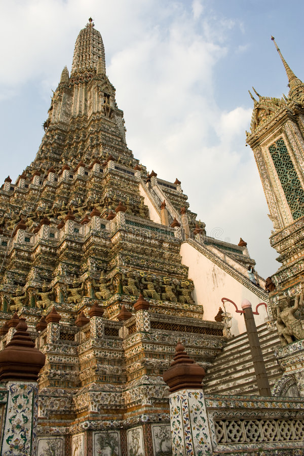 Wat Pho Tempel in Bangkok lizenzfreie stockfotografie