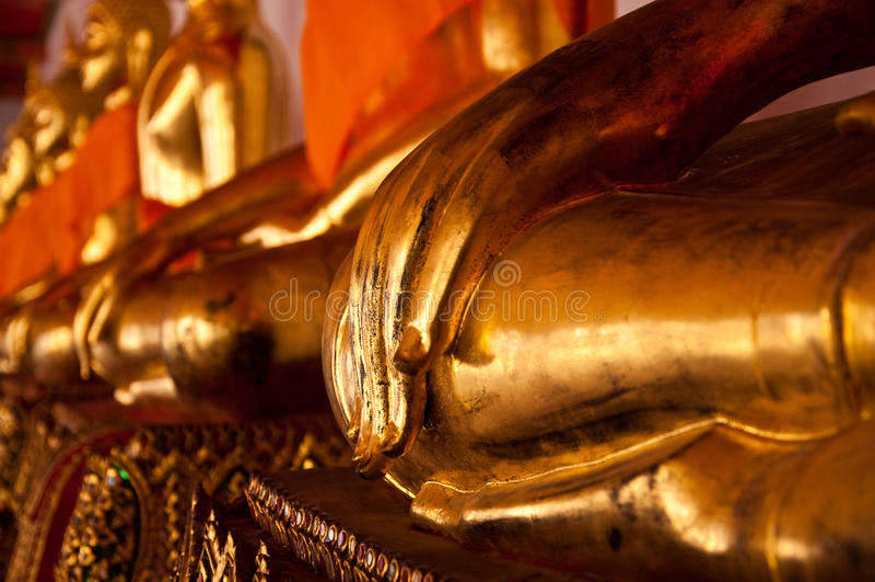 Wat Pho, Tempel des stützenden Buddhas stockfotos