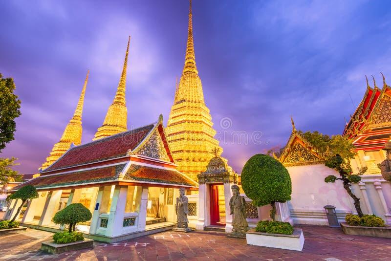 Wat Pho tempel i Bangkok, Thailand royaltyfri foto