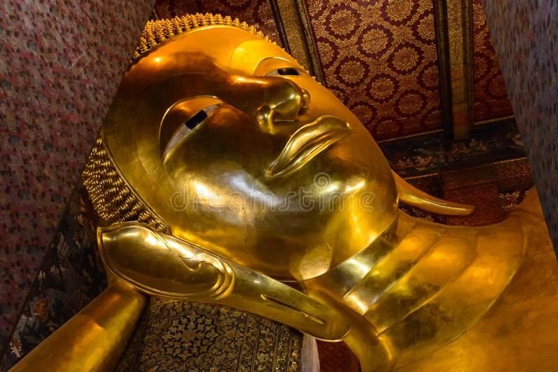 Wat Pho Temple av vilaBuddha i Bangkok, Thailand arkivbilder