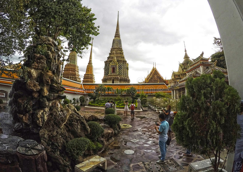 Wat Pho Temple Bangkok Thailand architecture 6 royalty free stock photos