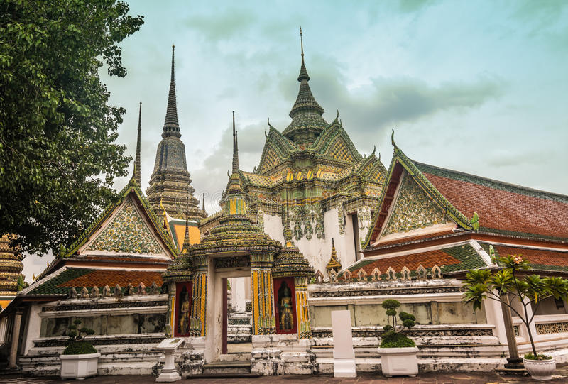 Wat Pho temple, beautiful detail , Thailand. royalty free stock photo