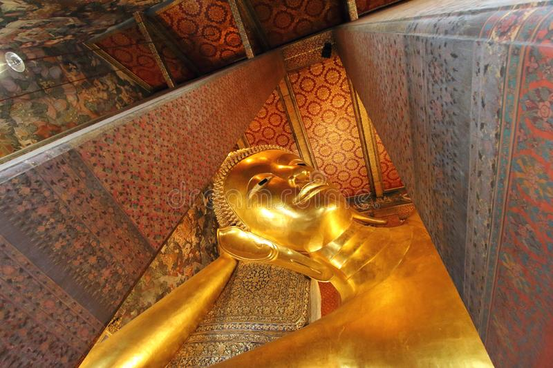 Wat Pho the Temple of the Reclining Buddha royalty free stock images