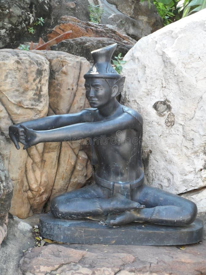 Wat Pho Thai Massage School servicemitt arkivbilder