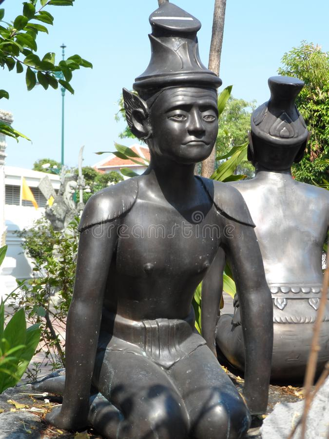 Wat Pho Thai Massage School servicemitt arkivfoton