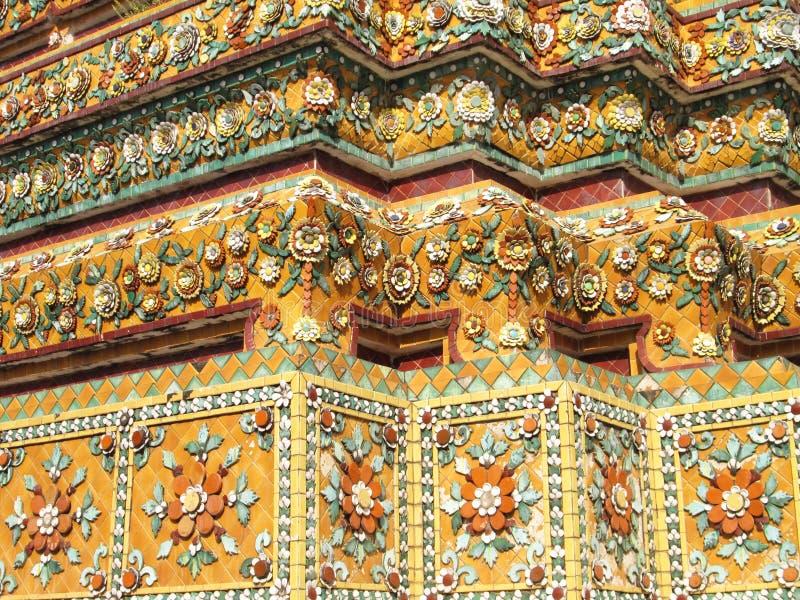 Wat Pho & x28; Vila Buddha& x29; i Bangkok Thailand arkivbilder