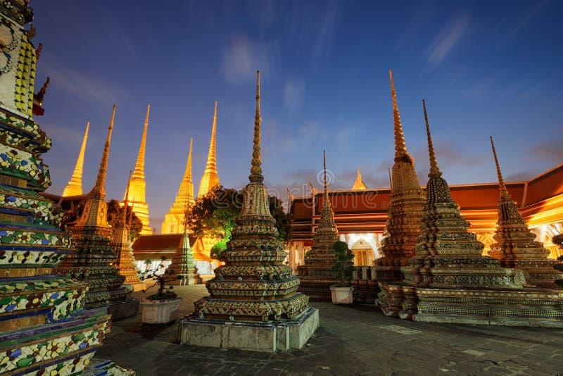 Wat Pho w Bangkok, Tajlandia zdjęcia royalty free