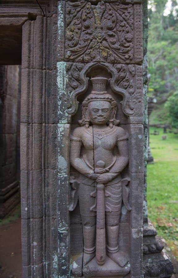 Wat Phou Khmer-tempel Laos royalty-vrije stock foto's