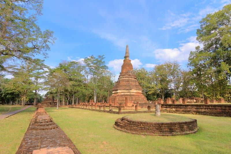 Wat Phra寺庙在甘烹碧府历史公园,联合国科教文组织世界遗产名录站点 库存照片