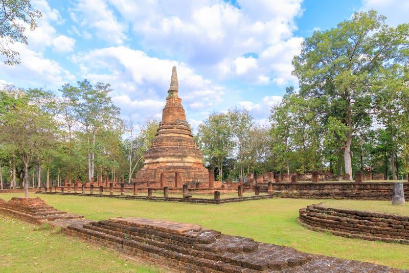 Wat Phra寺庙在甘烹碧府历史公园,联合国科教文组织世界遗产名录站点 图库摄影