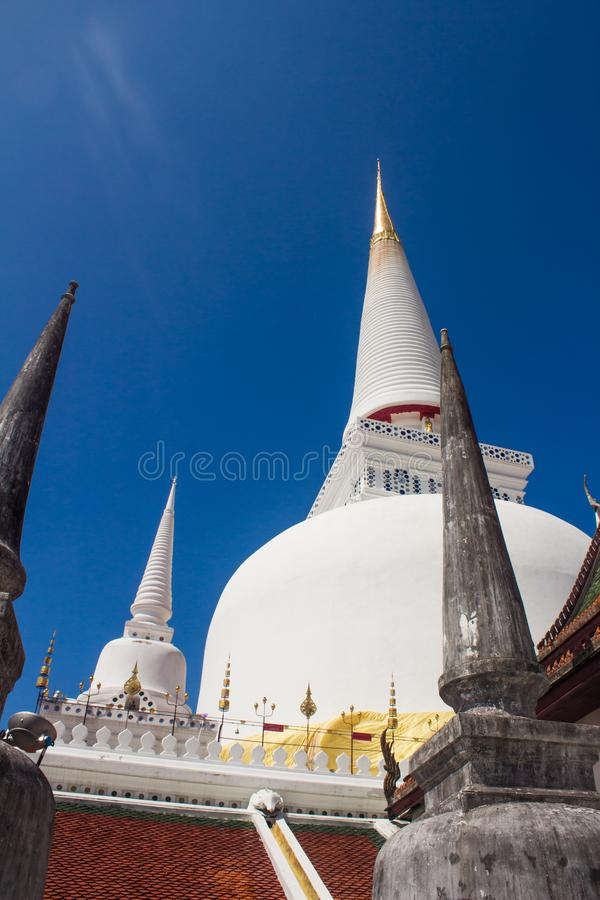 Wat phra的Mahathat, Nakon Si Thammarat著名塔 库存图片