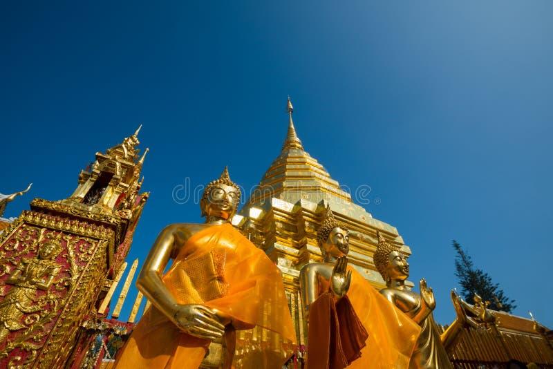Wat Phra那个土井素贴寺庙在Chiangmai 免版税库存照片
