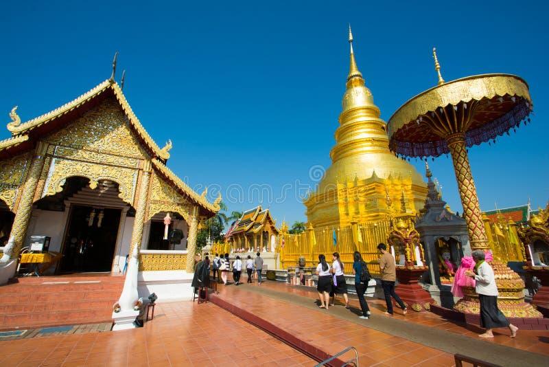 Wat Phra那个骇黎朋猜寺庙 库存图片