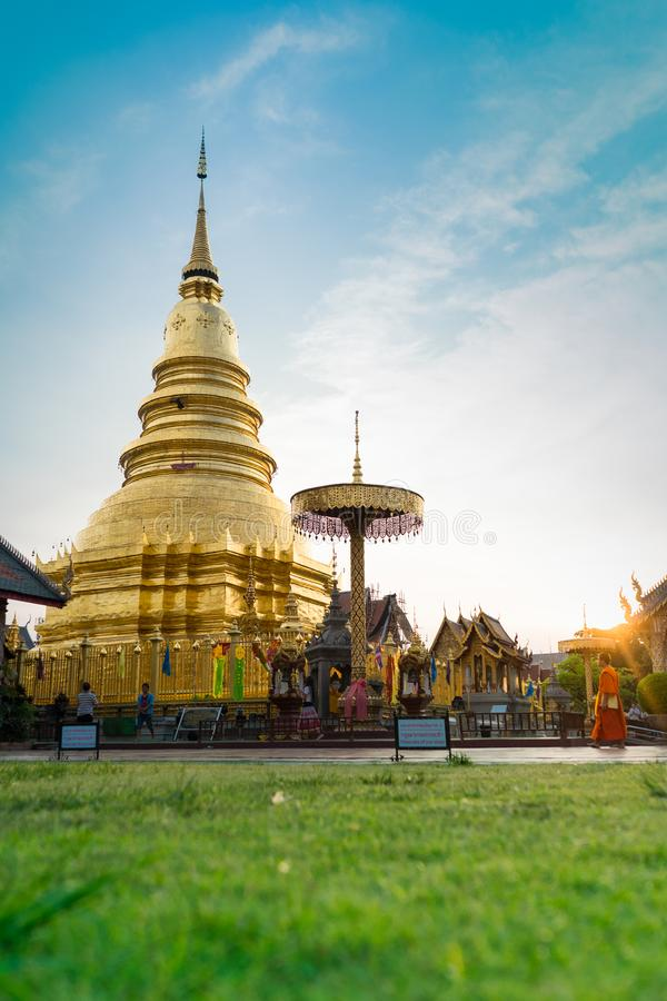Wat Phra骇黎朋猜寺庙 库存图片