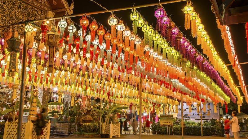 Wat Phra骇黎朋猜,南奔,泰国 库存图片