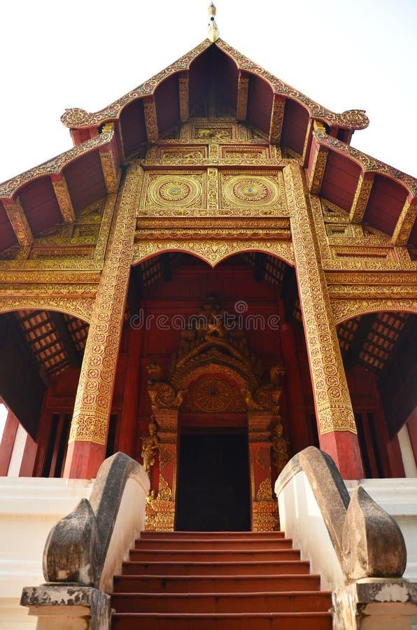 Wat Phra Σινγκ Woramahaviharn που βρίσκεται σε Chiang Mai Ταϊλάνδη στοκ φωτογραφίες