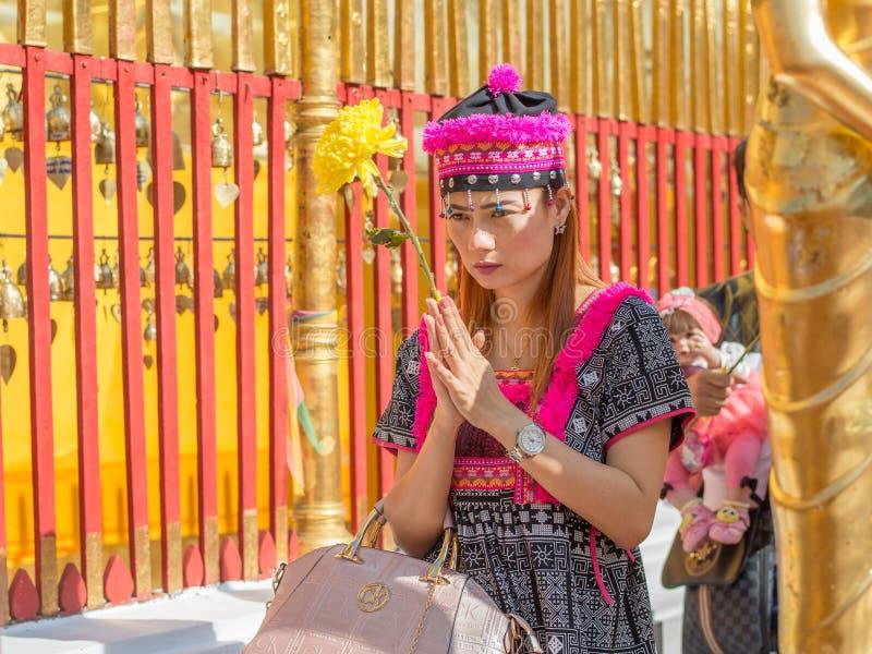 Wat Phra которое Doi Suthep в Чиангмае, Таиланде стоковая фотография
