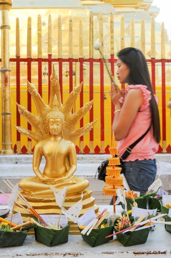 Wat Phra тот висок Doi Suthep на Чиангмае стоковые изображения