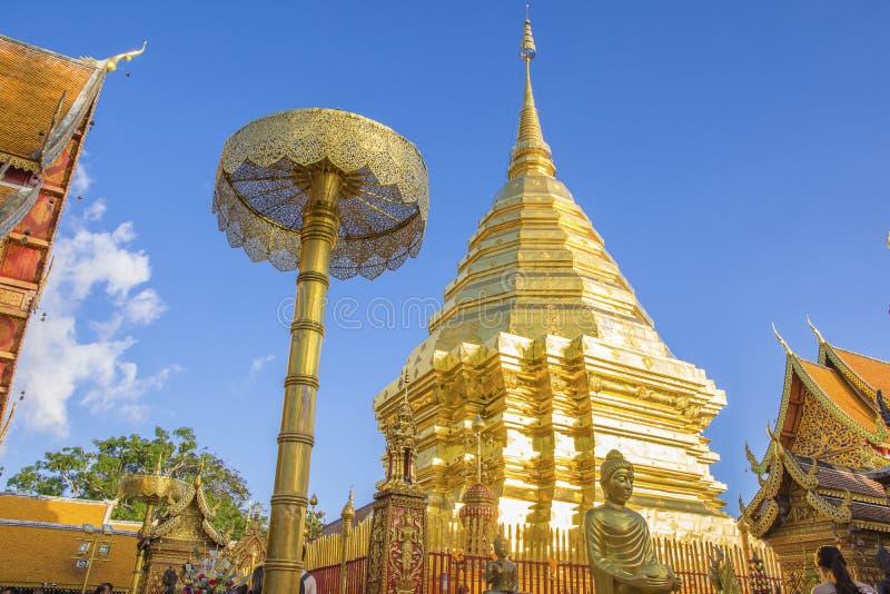 Wat Phra что Doi Suthep, Чиангмай, Таиланд стоковое фото