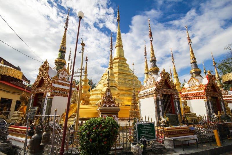 Wat Phra Borommathat Bantak,Tak Province, Thailand. Beautiful and famous temple royalty free stock photo