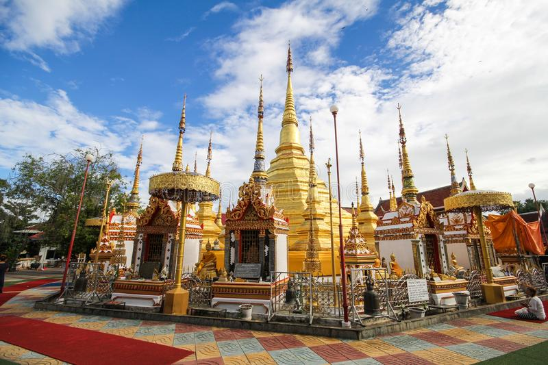 Wat Phra Borommathat Bantak,Tak Province, Thailand. Beautiful and famous temple royalty free stock images