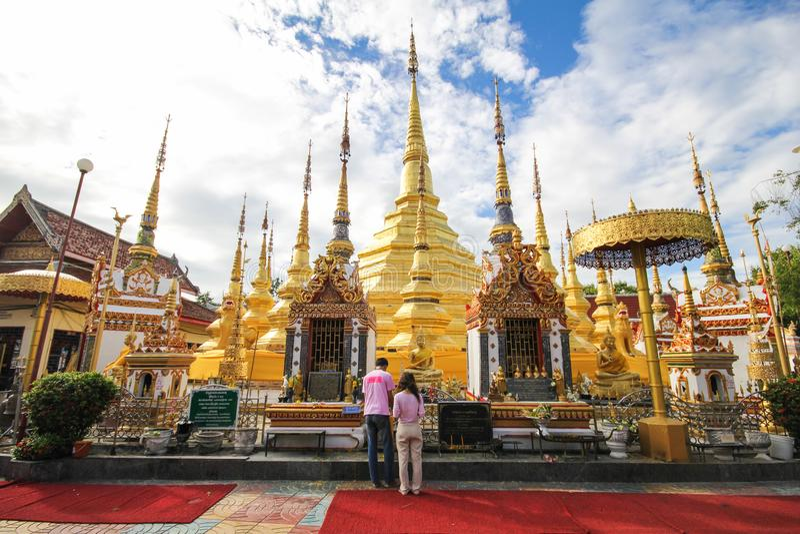 Wat Phra Borommathat Bantak,Tak Province, Thailand. Beautiful and famous temple stock image