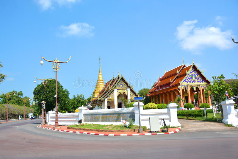 Wat Phra That Chang Kham Worawihan in Nan, Thailand royalty-vrije stock afbeeldingen