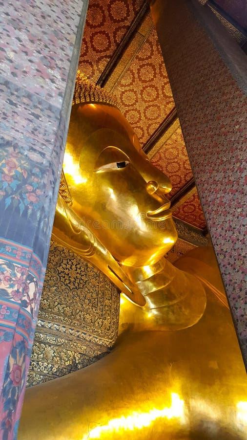 Wat Phra chetuphon eller Wat Pho, Thailand arkivfoto