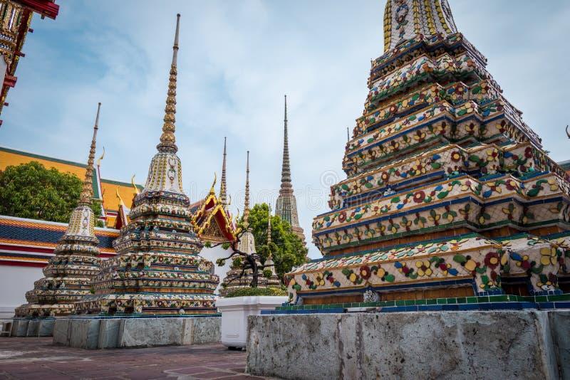 Wat Phra Chetuphon Wat Pho或Wat Phra Chetuphon Vimolmangklararm Rajwaramahaviharn 库存照片