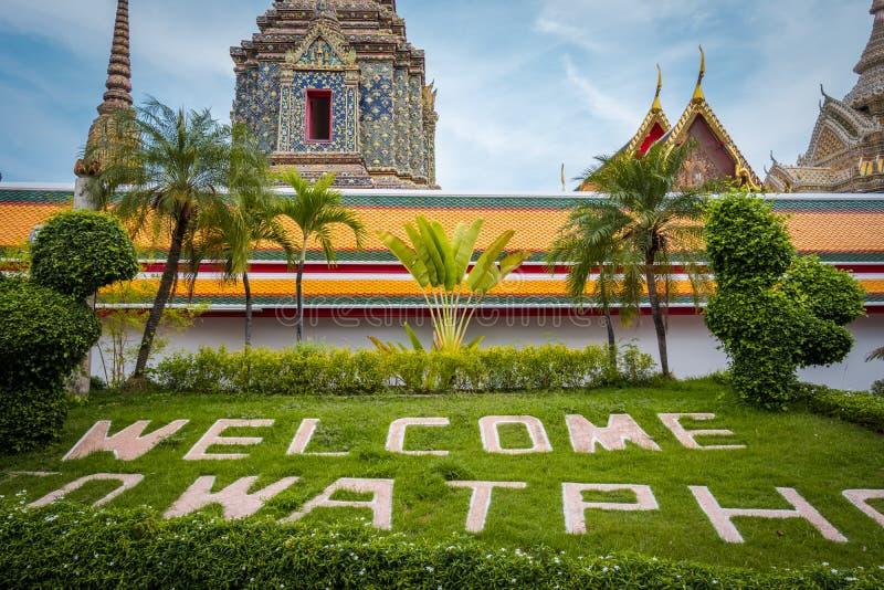 Wat Phra Chetuphon Wat Pho eller Wat Phra Chetuphon Vimolmangklararm Rajwaramahaviharn arkivfoto