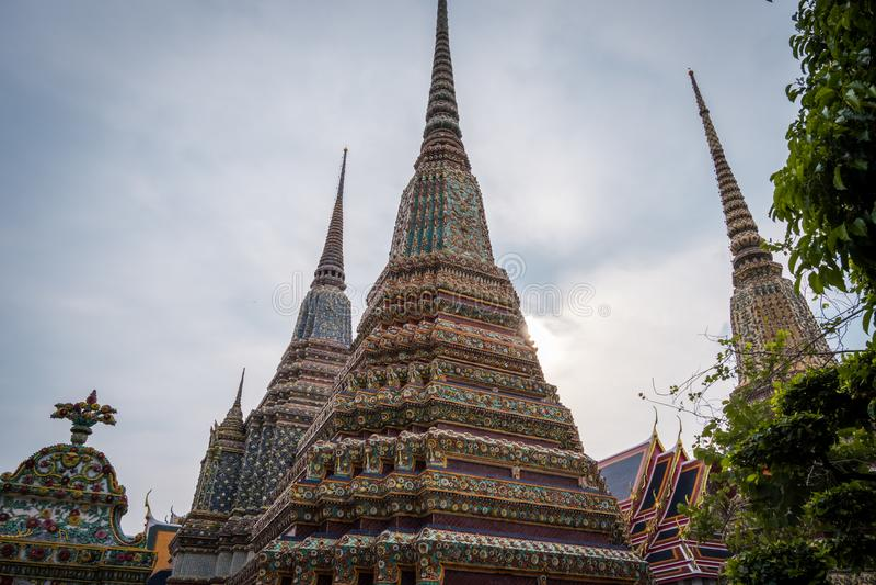 Wat Phra Chetuphon Wat Pho o Wat Phra Chetuphon Vimolmangklararm Rajwaramahaviharn immagine stock