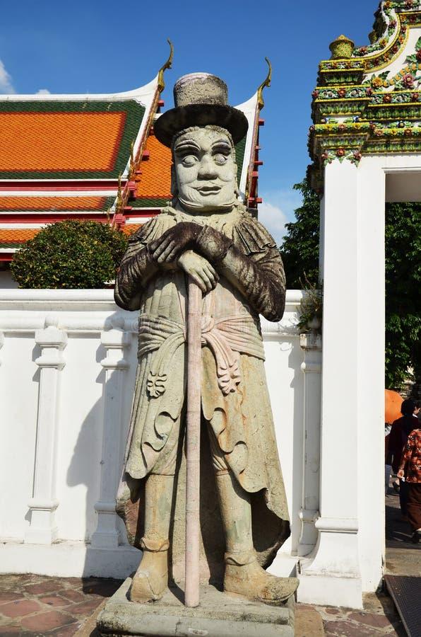 Wat Phra Chetuphon Vimolmangklararm叫作Wat当地的Rajwaramahaviharn Pho 免版税库存照片