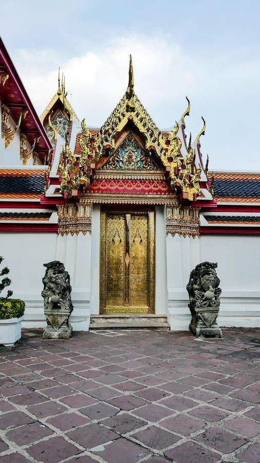 Wat Phra Chetupon Vimolmangklararm & x28泰国门艺术建筑学; Wat Pho& x29;寺庙在泰国 图库摄影