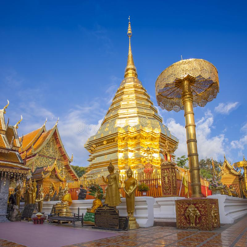 Wat Phra das Doi Suthep, Chiang Mai, Thailand stockfotografie