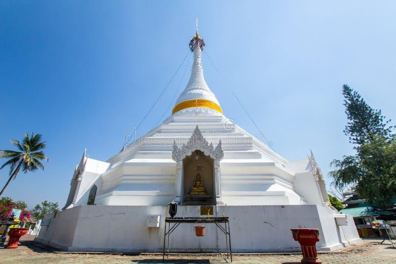 Wat Phra den Doi Kong Mu Vit tempel på en bergöverkant på Mae Hong Son som är nordlig av royaltyfri foto
